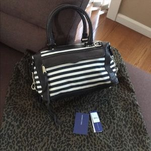 Rebecca Minkoff M.A.B. Mini stripe top handle bag
